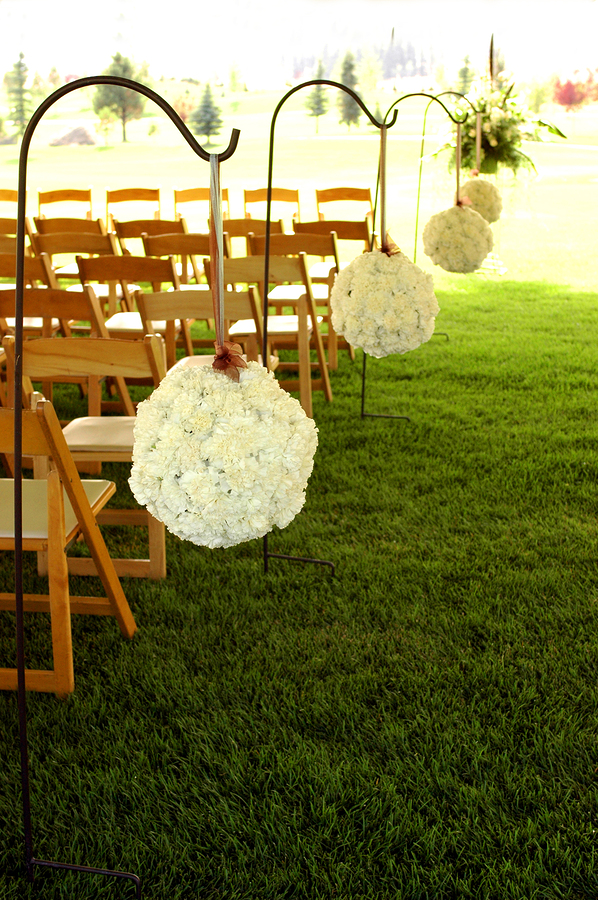 outdoor wedding aisle runner